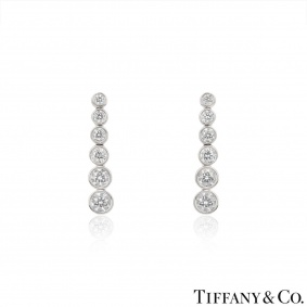 Tiffany & Co. Platinum Jazz Diamond Earrings
